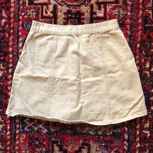 BDG Skirts - BDG snap front skirt 🍁 tan denim 🍁 cute pockets